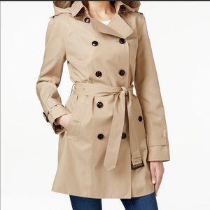 Michael Kors Hooded Trench Coat